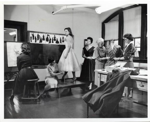Dressmaking class-Margaret Lindsay c1950s or '60s